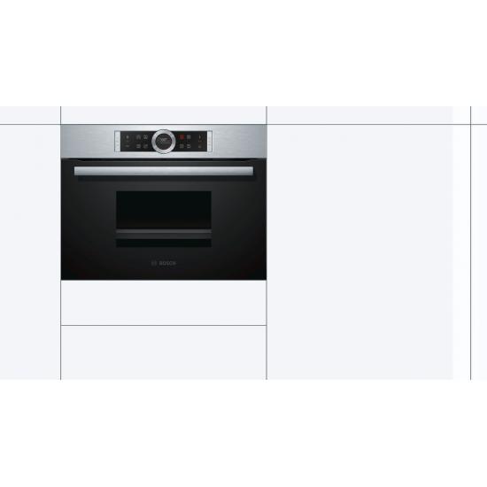 Bosch Serie | 8 Buharlı Fırın60 x 45 cm Paslanmaz çelik