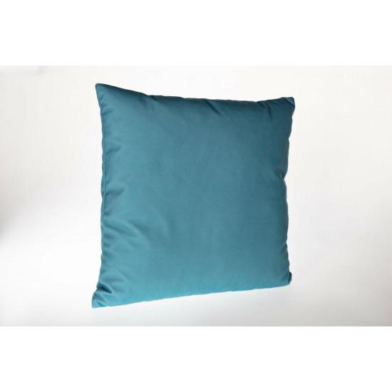 Doqu Home Alacatı Desenli Baskılı Kırlent Kılıfı ALC03 45x45 - Mavi