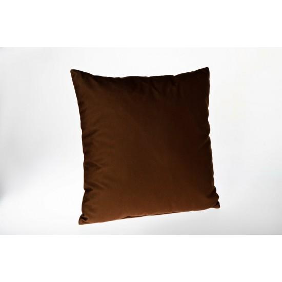 Doqu Home Cubism Desenli Baskılı Kırlent Kılıfı PRT05 45x45 - Kiremit